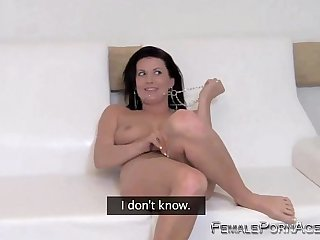 mom bends over